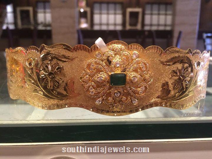 70 Grams Gold Emerald Vadanam