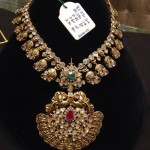 Gold Antique Polki Necklace Design