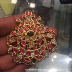 Antique Gold Ruby Pendant