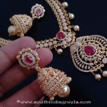 Artificial Stone Necklace Set With Jhumka