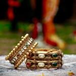 Designer Gold Kundan Bangles