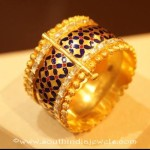 Gold Adjustable Screw Type Bangle Design