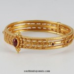 22k Gold Bangle with Rubies