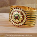 Gold Designer Bangle from Manubhai Jewellers