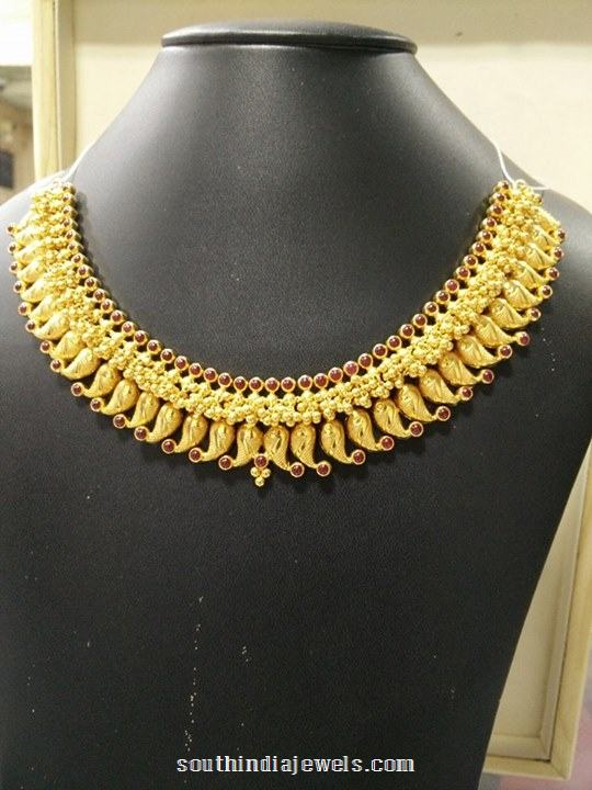 gold choker necklace from Sumangali Jewellers