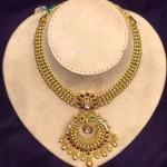 Gold Antique Attigai Necklace Design