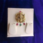 Gold Antique Ganesh Pendant Design