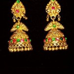 Gold Antique Jhumka From Sumangali Jewellers