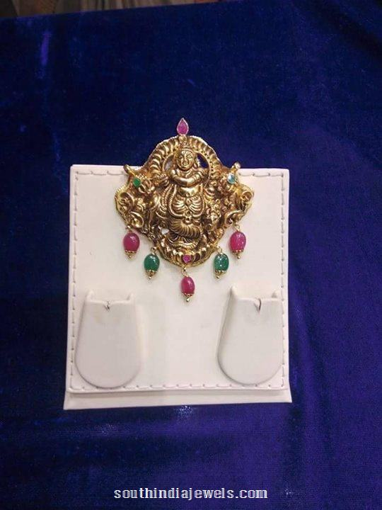 Gold Antique Krishna Pendant