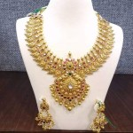 Gold Mango Necklace Jewellery Design
