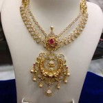 Gold Double Layer Stone Necklace