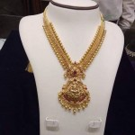 Latest Model Gold Lakshmi Long Haram