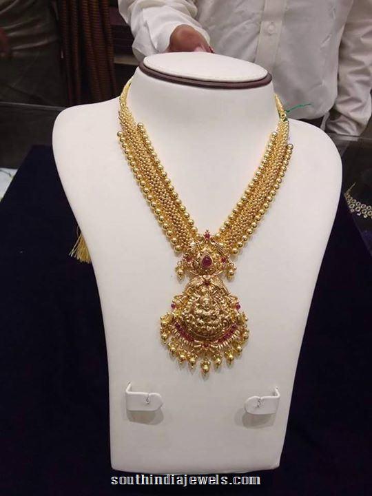 Gold Long Lakshmi Haram