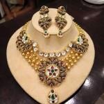 Gold Multilayer Kundan Necklace