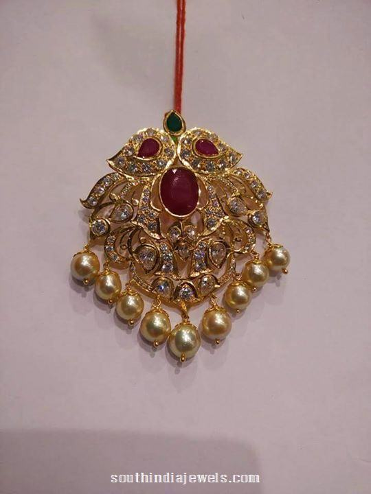 gold-ruby-pendant-with-pearls-harsha-jewellers