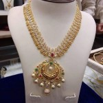 Gold Stone Coin Necklace