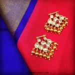 22K Gold Uncut Bali Earrings