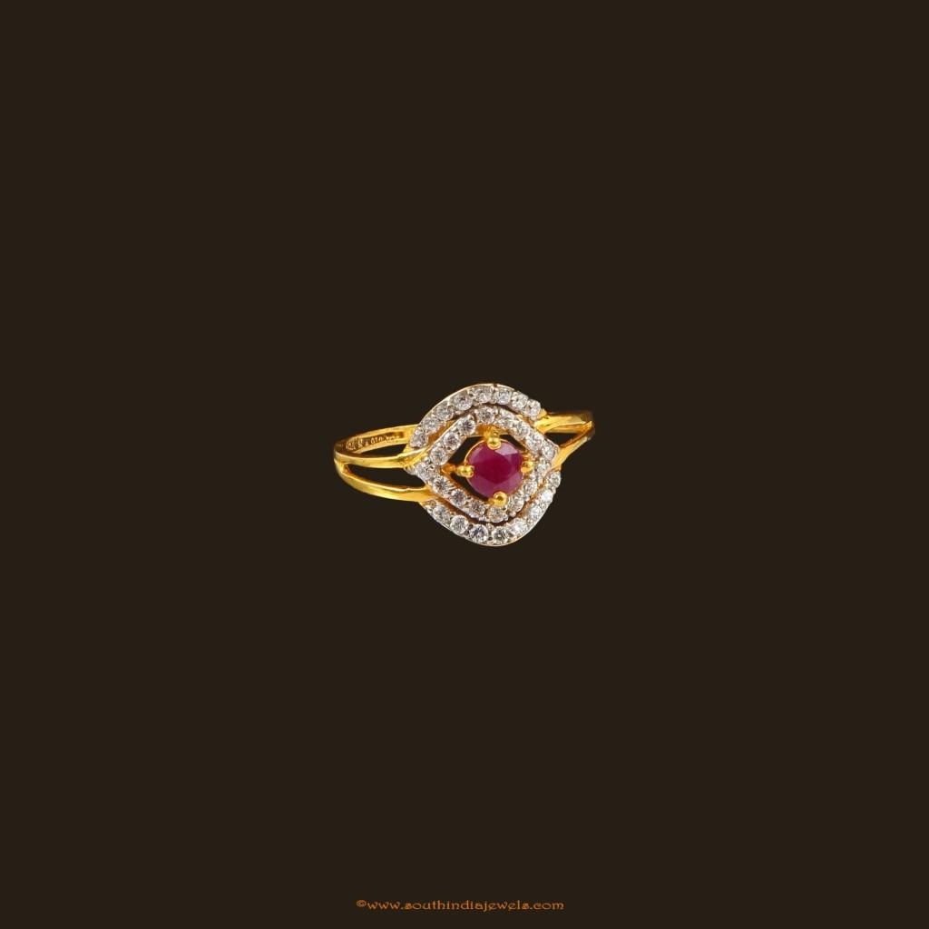 22k gold tuby stone ring from VBJ