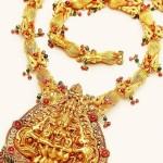 22K Gold Temple Short Necklace