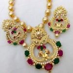 Designer CZ Stone Imitation Necklace Set