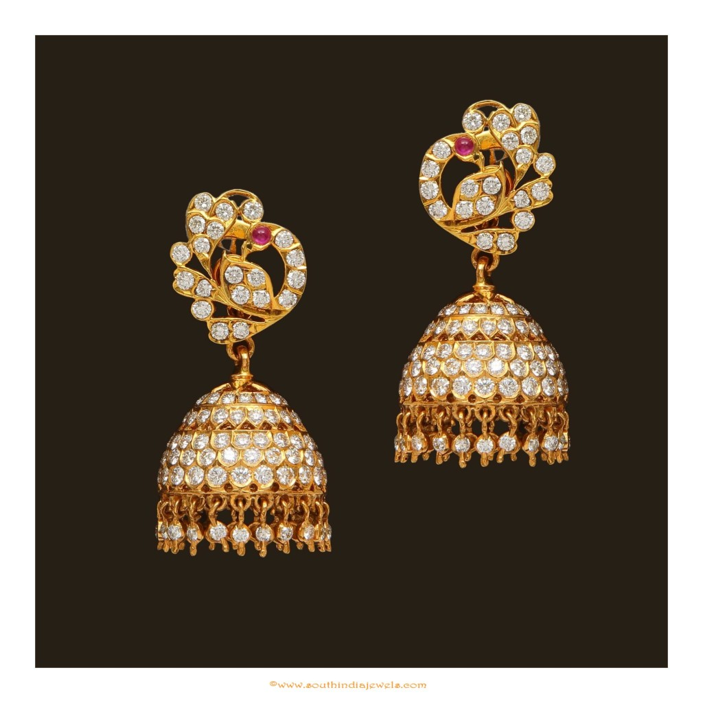 Diamond Jhumka Design from VBJ