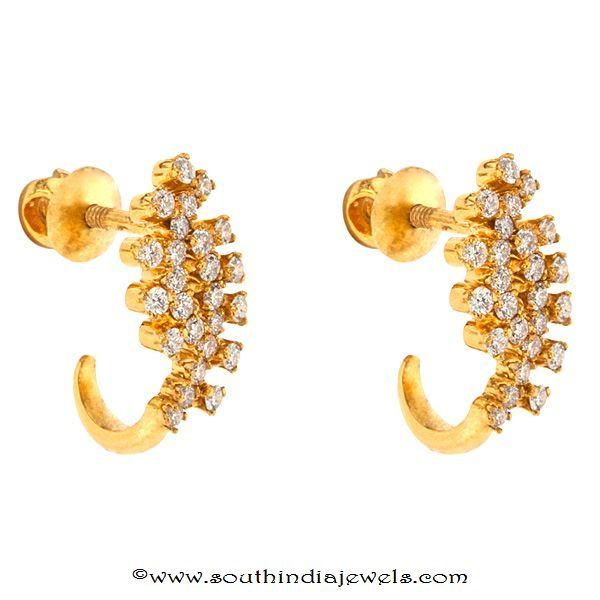 Diamond screw type earrings from Prince Jewellery