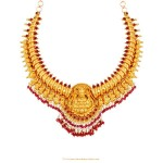 22K Gold Antique Necklace From Lalitha Jewellery