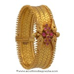 4 Antique Gold Kada Bangles from Prince Jewellery