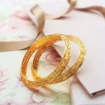 Gold Fancy Bangles From Manubhai Jewellers