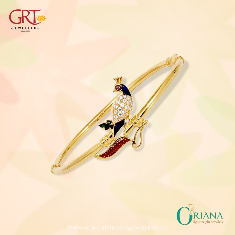 Gold Light Weight Bracelet from GRT Jewellers South India Jewels