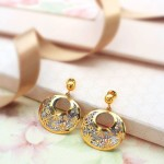 Gold Designer Earrings From Manubhai Jewellers