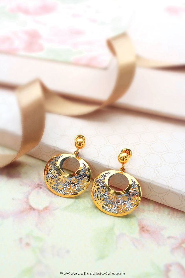 Gold Designer Earrings from Manubhai Jewellers