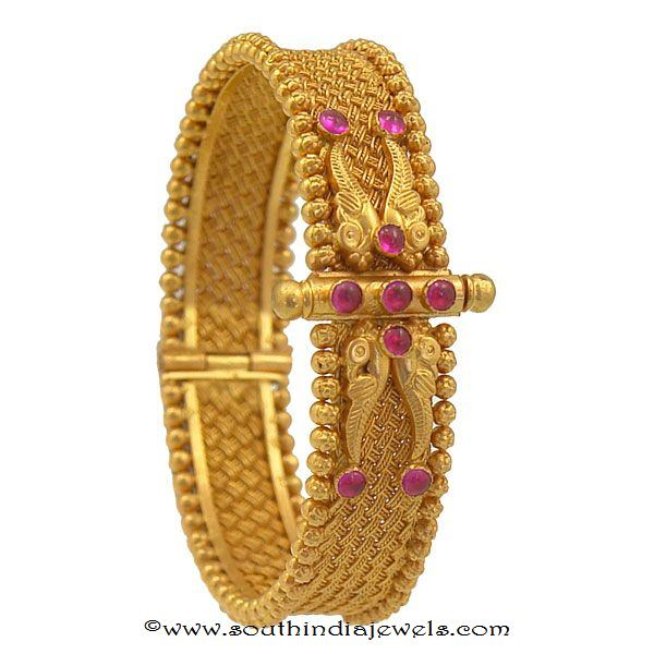 gold ruby kada bangle from prince Jewellery