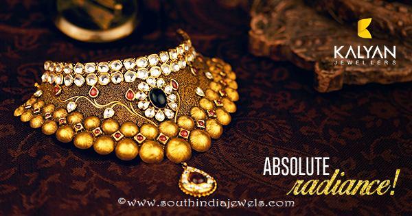 Kundan bridal choker from Kalyan Jewellers