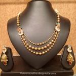 Light Weight Gold Antique Necklace Set