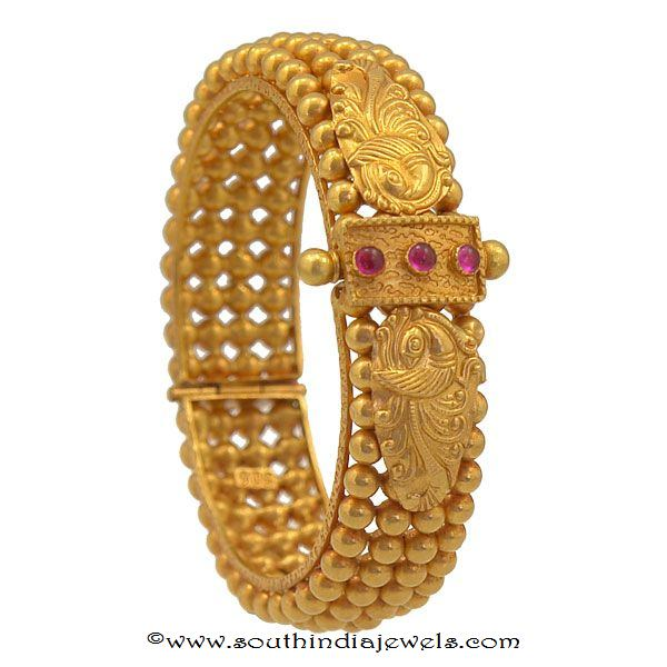 gold antique bangle designs from prince jewellery