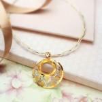 Gold Designer Short Necklace from Manubhai Jewellers