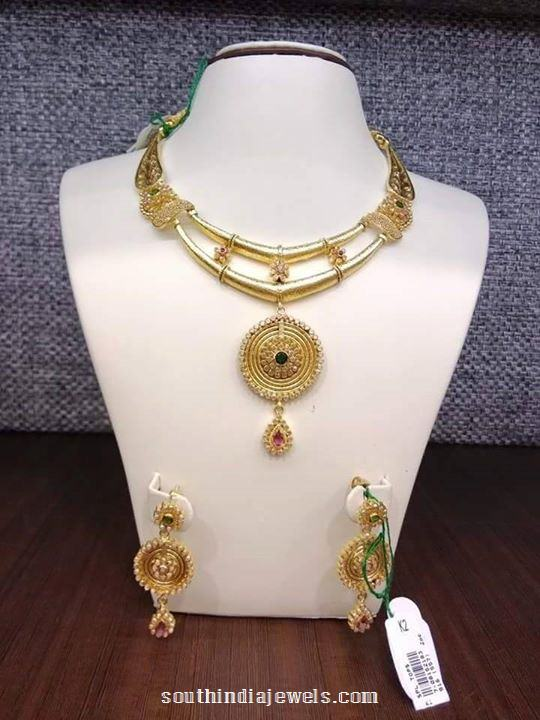 Gold Two Layer Designer Necklace