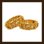 22k Gold Clustered Bead Bangles From VBJ