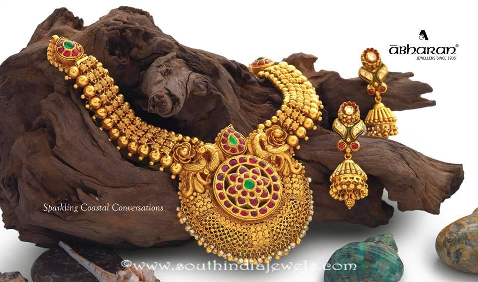 Antique Necklace Set from Abharan Jewellers