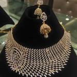 Designer Diamond Necklace Set with Jhumka