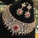 Diamond Ruby Necklace Set From PSJ