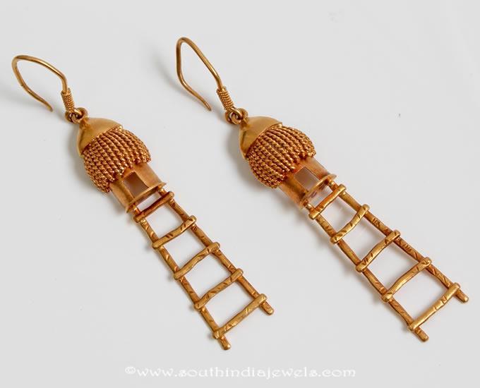 Fancy Gold Hoop Earrings From PNG Adgil Jewellers