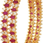 Gold Plated Ruby Bangle From Sthrielite
