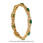 22k Gold Emerald Bangle From Prince Jewellery