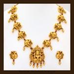 Gold Antique Nagas Necklace Set From VBJ