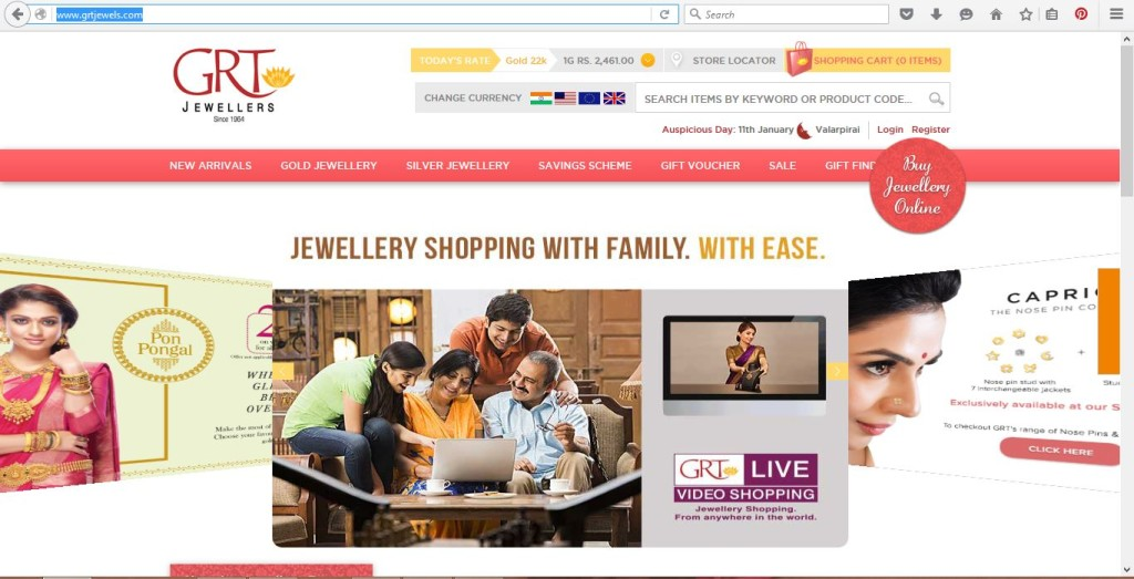 Gold Online Shopping India GRT Jewels
