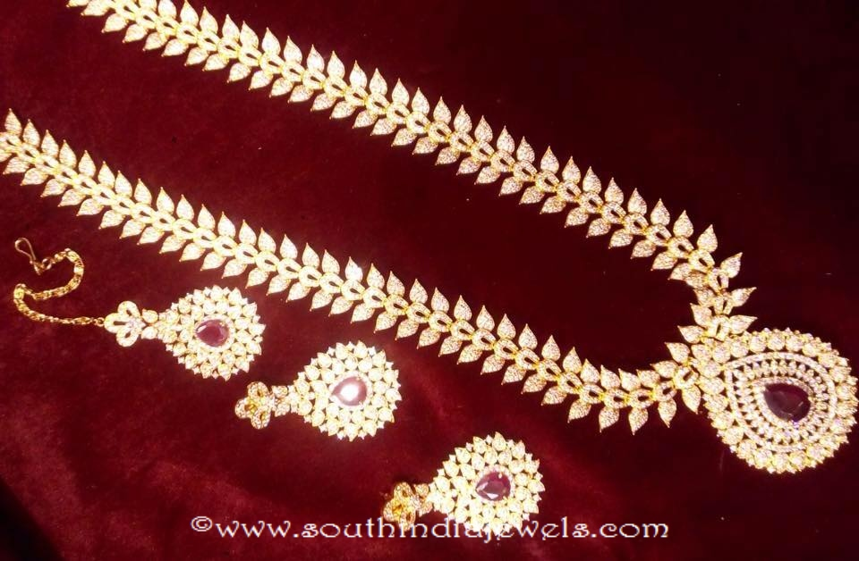 Gold Plated Necklace Set From Swarnakshi gold accessories and jewels