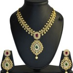Gold Plated CZ Necklace Set From MP Fine Jewellery