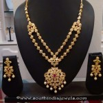 One Gram Gold CZ Stone Necklace Set